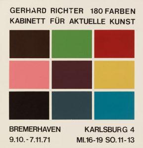Ausstellungsplakat Gerhard Richter 1971