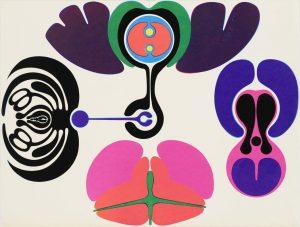 Gernot Bubenik, Naturgeschichte, 1966, Siebdruck, Kunsthalle Bremen – Der Kunstverein in Bremen, © VG Bild-Kunst, Bonn 2019