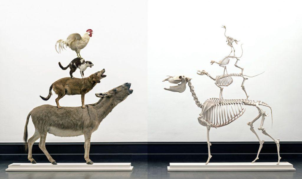 Maurizio Cattelan, Love Saves Life, 1995, und Love Lasts Forever,1998, Kunsthalle Bremen – Der Kunstverein in Bremen, © Maurizio Cattelan