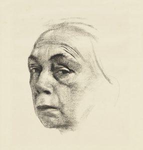 Käthe Kollwitz, Selbstbildnis, 1924, Kreidelithographie, Kunsthalle Bremen – Der Kunstverein in Bremen, Kupferstichkabinett