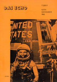 """Schülerzeitung der sechziger Jahre, """"hoch hinaus"""" zum Thema Raumfahrt von 1965."""