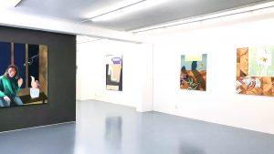 Galerie Kramer Ausstellungsansicht Infrarosa mit Ellen Akimoto und Anna Nero