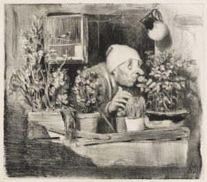 Honoré Daumier, L'odorat, 1839