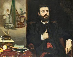 Bildnis des Zacharie Astruc (1866) von Édouard Manet